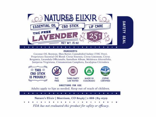 Cbd Chapstick Lavender